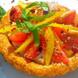 Raw Spicy Nut Cheese and Vegetable Tarts